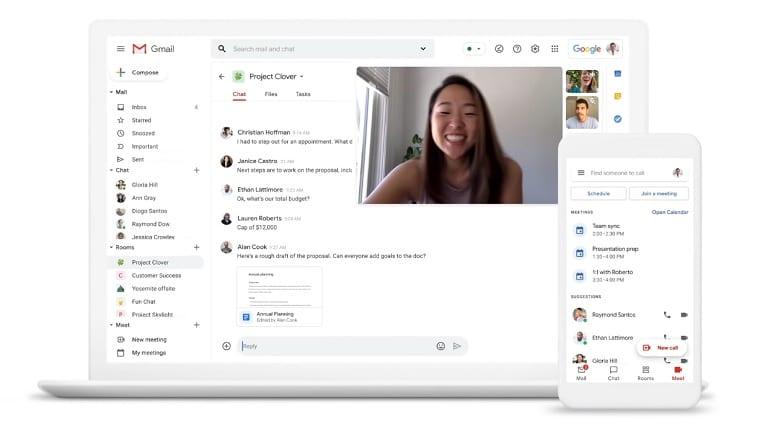 Google anuncia integração entre Gmail, Chat e Meet para otimizar trabalho